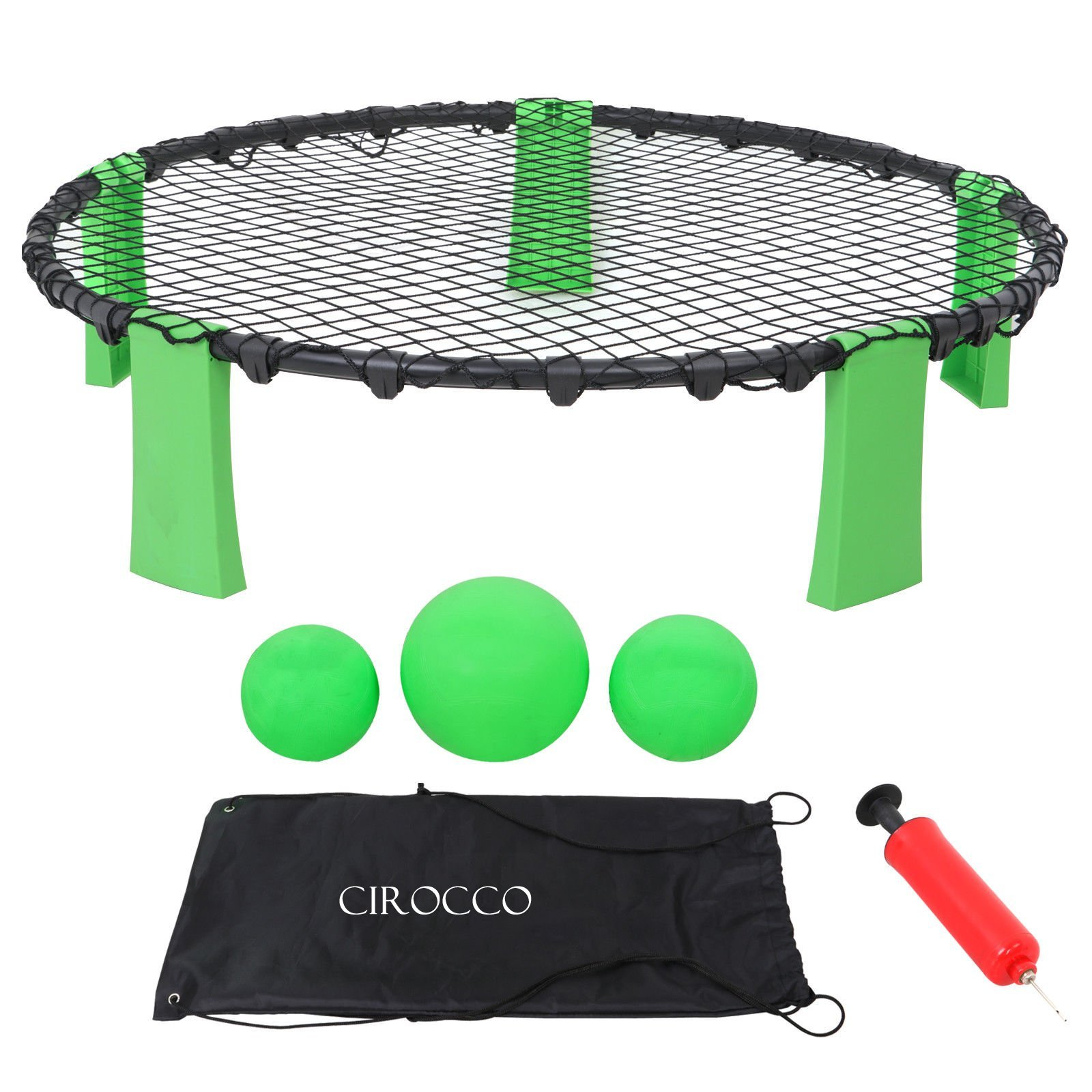 Cirocco Slam Ball Sports Game Set - Volleyball Toss Game Set - Ball Spike Battle Game | Outdoor Indoor Gift for Adult Teen Family Friend | Ideal for Yard Lawn Beach Tailgate Garden Party | Super Fun by Cirocco