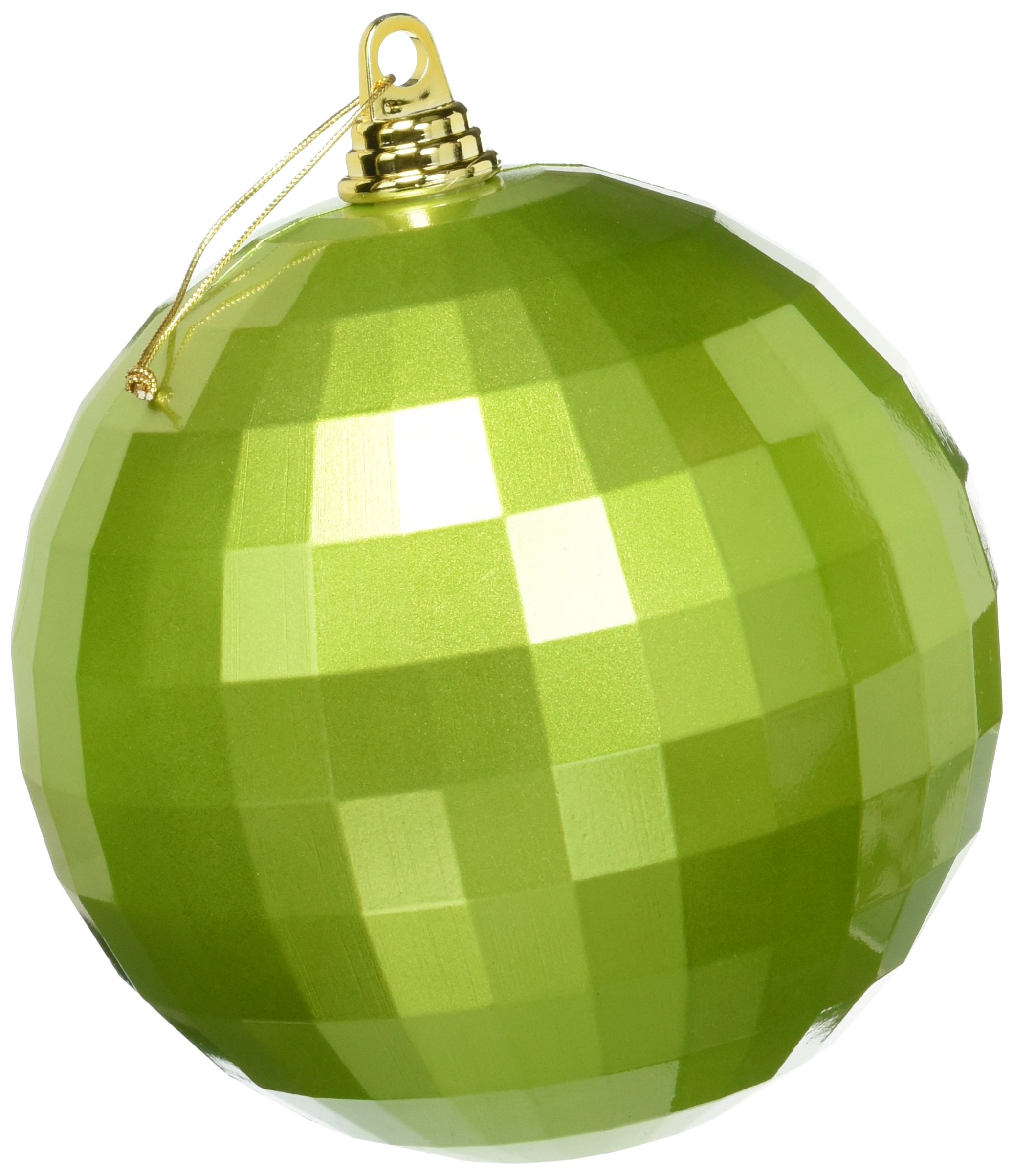 Vickerman 8'' Lime Candy Finish Mirror Ball Christmas Ornament