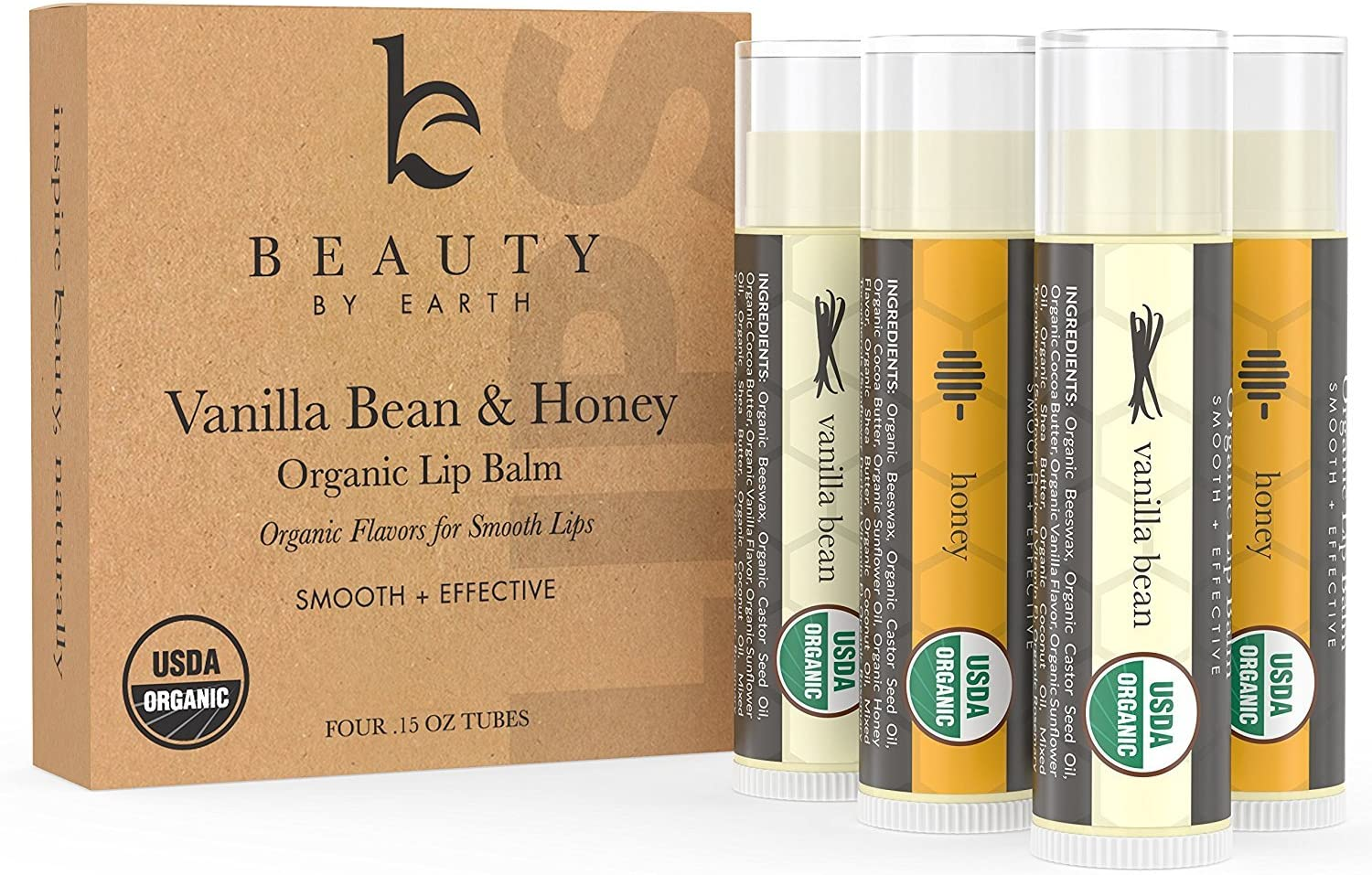 There are many gift ideas for women over 40 that are actually very useful and a set of yummy organic lip balms is one of them. These lip balms are going to light up the face of your loved one and she's going to cherish them so much. The lip balms have two different flavors that are vanilla and honey bean and they keep lips moisturized in the harsh winter weather. The plush point is that they smell and taste so good all day long.