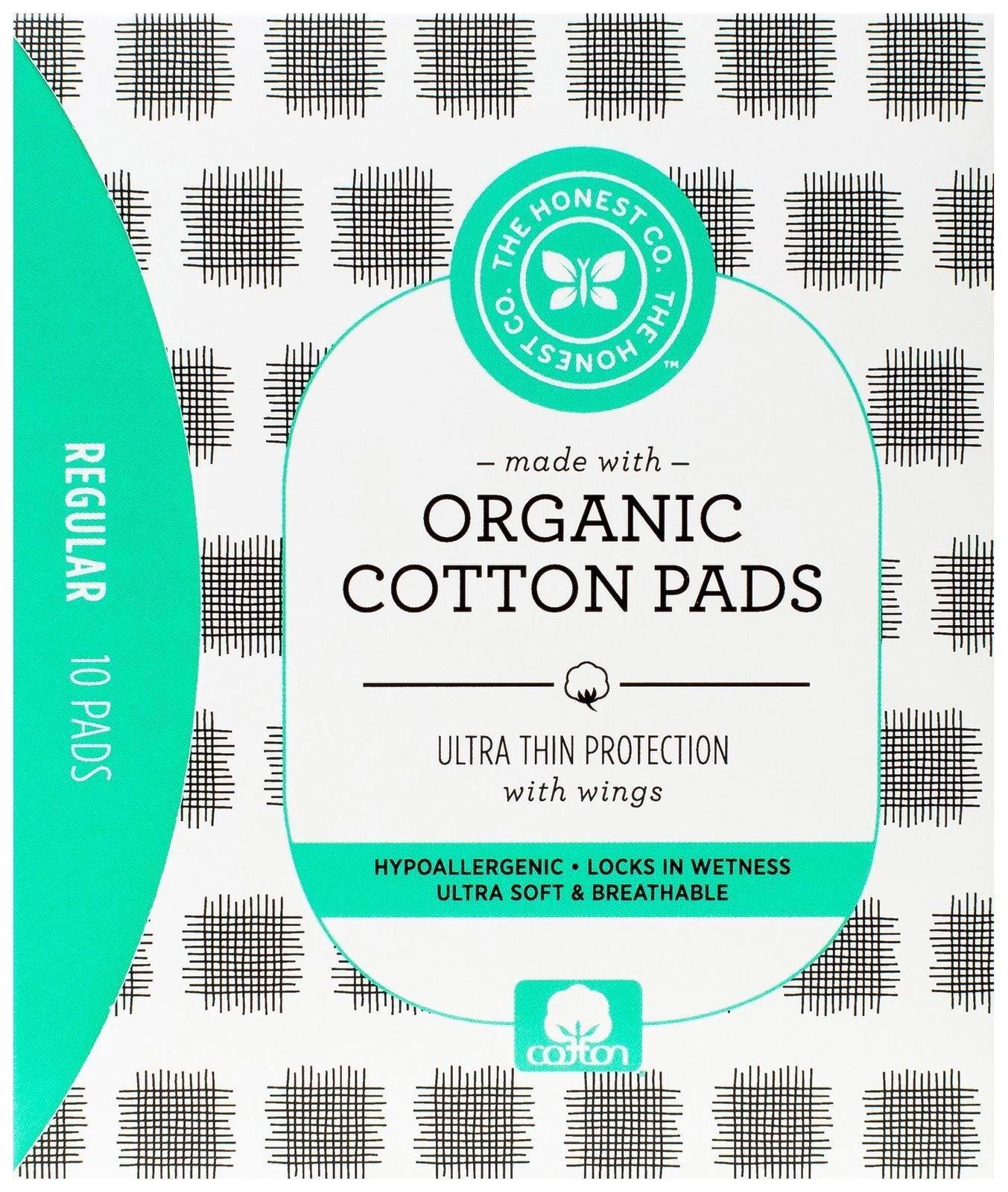 The Honest Company Organic Cotton Pads, Regular, 10 Count