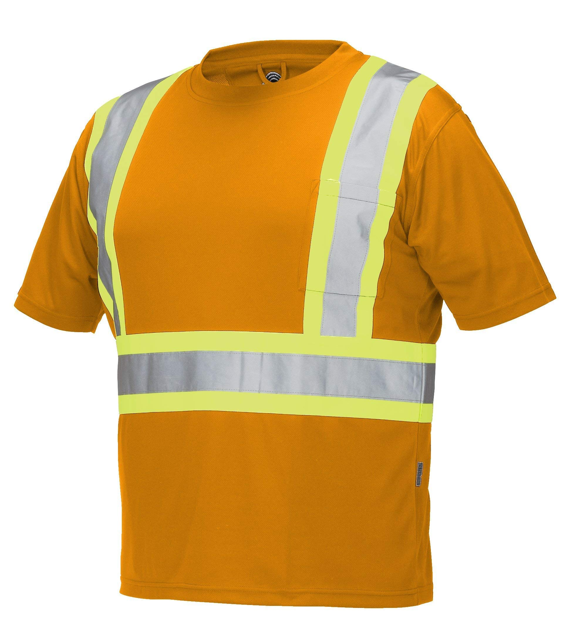 ForceField Hi Vis Crew Neck Short Sleeve Safety Tee Shirt Chest Pocket