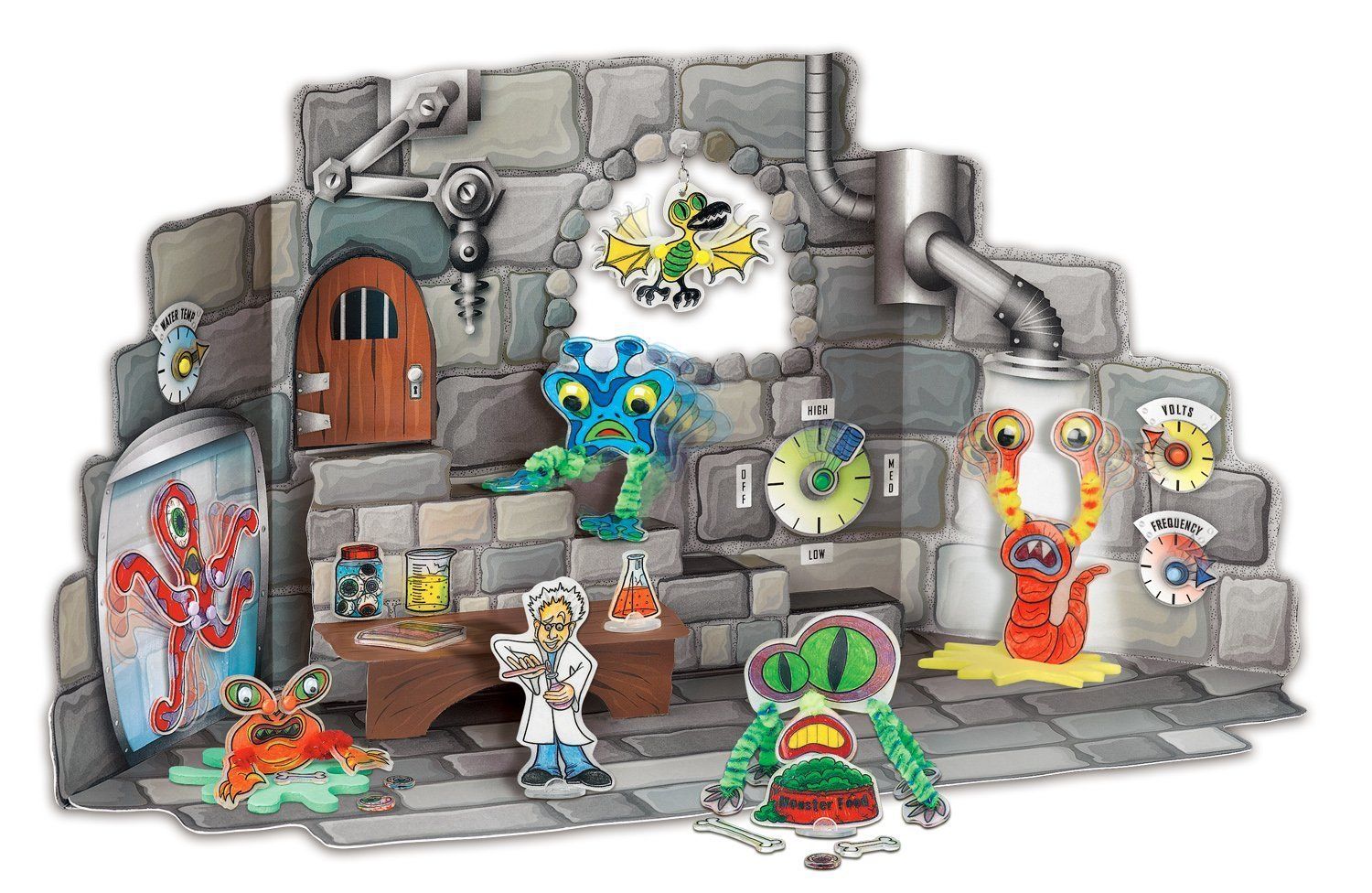 Monster laboratory completed example of colored and built assembled set