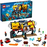 LEGO City Oceans Ocean Exploration Base 60265 building set with 5 minifigures, stingray and shark, Toy for kids 6+ years (497 pieces)