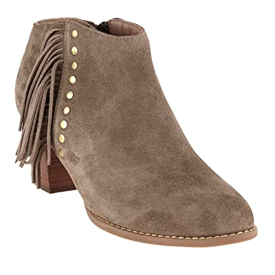 Vionic with Orthaheel Technology Women's Faros Ankle Boot, Greige, US 9.5 M | Ankle & Bootie