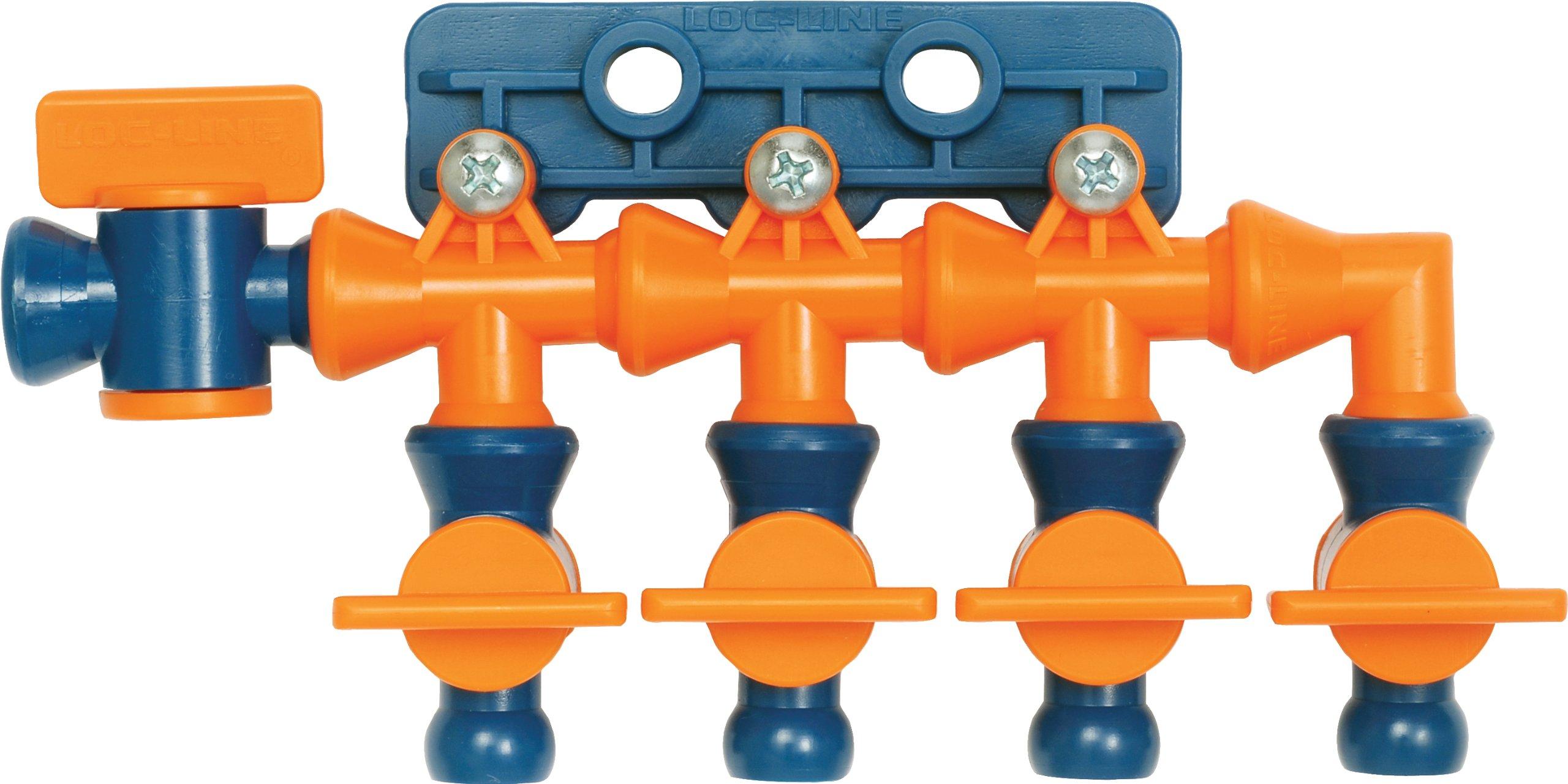 Loc-Line Coolant Hose Total Flow Control Manifold, Acetal Copolymer, 1/4'' Hose ID