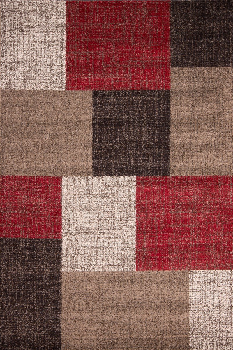 nazar mondo tapis de salon rouge 160x230 cm amazonfr cuisine maison - Achat Tapis Salon