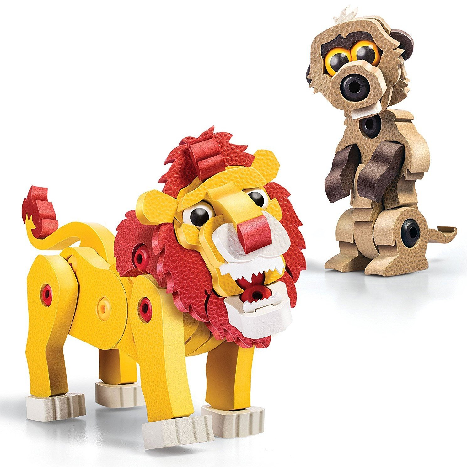 Bloco Toys Lion & The Meerkat Building Kit (100 Pieces)
