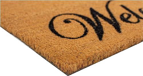 Calloway Mills 121353672 Scroll Welcome Doormat, 3 x 6 , Natural Coir