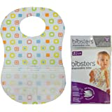 Age 0-6 Months and Reusable Fastener 120 Count Bibsters by Neat Solutions Small Disposable Bibs with Leak Proof Liner