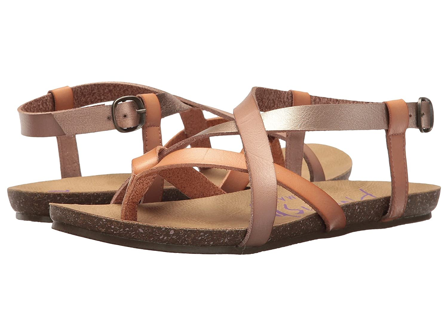 Blowfish Women's Granola Fisherman Sandal B07FCJWLG6 39-40 M EU / 9 B(M) US|Blonde/Pearl Rose Gold