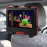 車載ホルダー COOAU DVDプレーヤー ホルダー タブレット 車載 ホルダー 7~12インTablet用 ミニPC iPad Samsung Galaxy Nexus7 Kindleなど対応 360度回転 強い固定性 車 後部座席用 取付式 一年保証