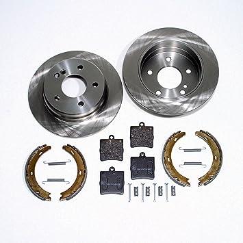 Bremsbeläge 2 Febi Bremsscheiben Sensor vorne Mercedes C-Klasse