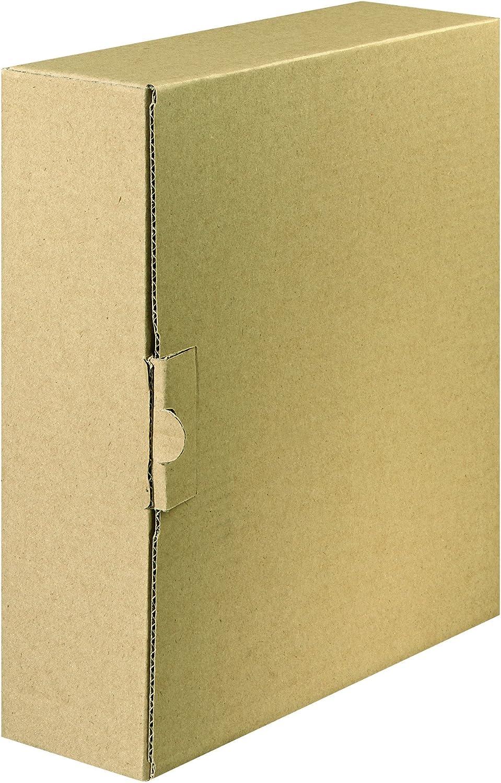 /Caja de env/ío para archivadores y anillo libros de hasta 8/cm anchura Color Marr/ón FALKEN Carpeta con cierre/