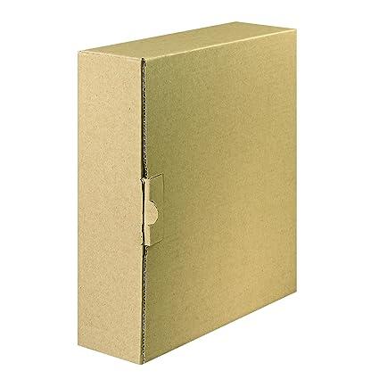 FALKEN Carpeta con cierre – Caja de envío para archivadores y anillo libros de hasta 8