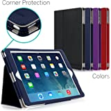 iPad Air Case, [CORNER PROTECTION] CaseCrown Bold Standby Pro (Blue) with Sleep / Wake, Hand Grip, Corner Protection, & Multi-Angle Viewing Stand (Compatible w/ New iPad 2017 model)