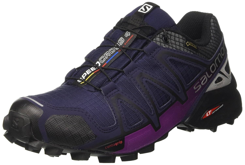 SALOMON Speedcross 4 Nocturne GTX W, Chaussures de Trail Femme MultiCouleure (Ev bleu Si) 37 1 3 EU