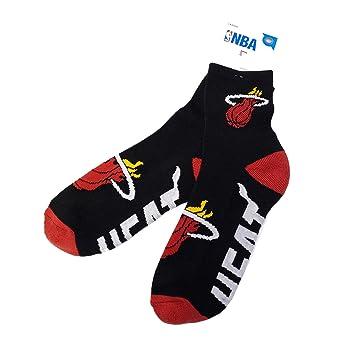NBA Calcetines auténticos Miami Heat con Logo Impreso en 2 Tonos ...