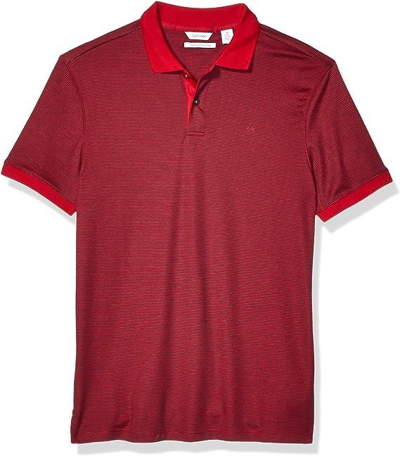 Calvin Klein - Polo para Hombre con protección UV - Gris - Small ...