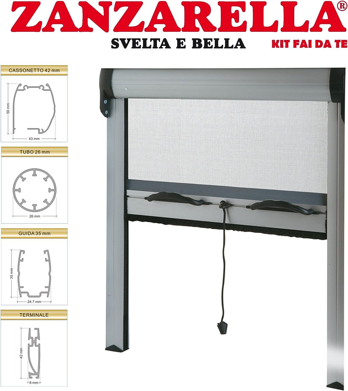 Mosquitera para montar de medida estándar ajustable con rodillo y muelle: Amazon.es: Bricolaje y herramientas