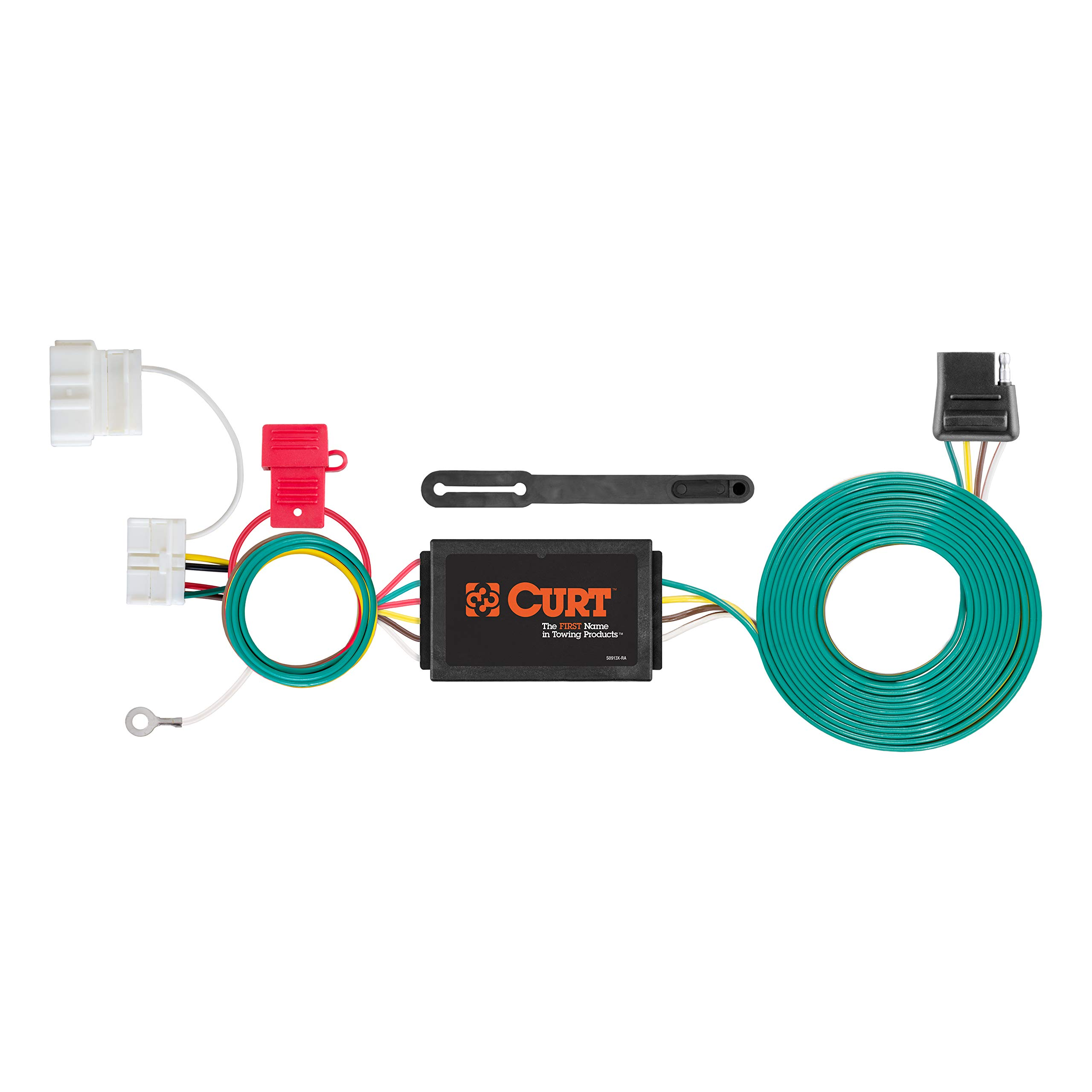 CURT 56378 Vehicle-Side Custom 4-Pin Trailer Wiring Harness for Select Honda Odyssey by CURT