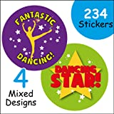 Dancing themed stickers, sports & dance schools - clubs x 144 (plus 90 x 10mm labels)