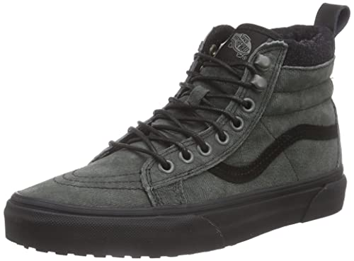 6bafb571c0 Vans Mens Sk8-Hi MTE Denim Suede Black Sneaker - 7.5  Amazon.ca ...