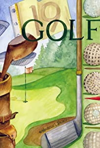 Toland Home Garden Hole in One 12.5 x 18 Inch Decorative Sport Golf Course Club Tee Green Summer Garden Flag