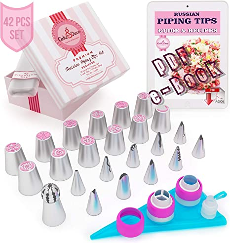 5x Large Russian Icing Piping Pastry Nozzle Tips Cake Decorating Tool NozzleVe