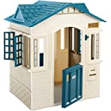 Little Tikes Cape Cottage Playhouse for Kids - Outdoor Playset and Indoor Playground for Toddlers with 2 Working Doors - Pret