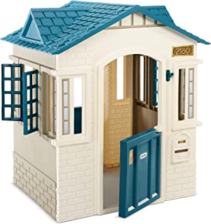 product image for Little Tikes Cape Cottage Playhouse for Kids - Outdoor Playset and Indoor Playground for Toddlers with 2 Working Doors - Pretend Play House Educational and Interactive Toy