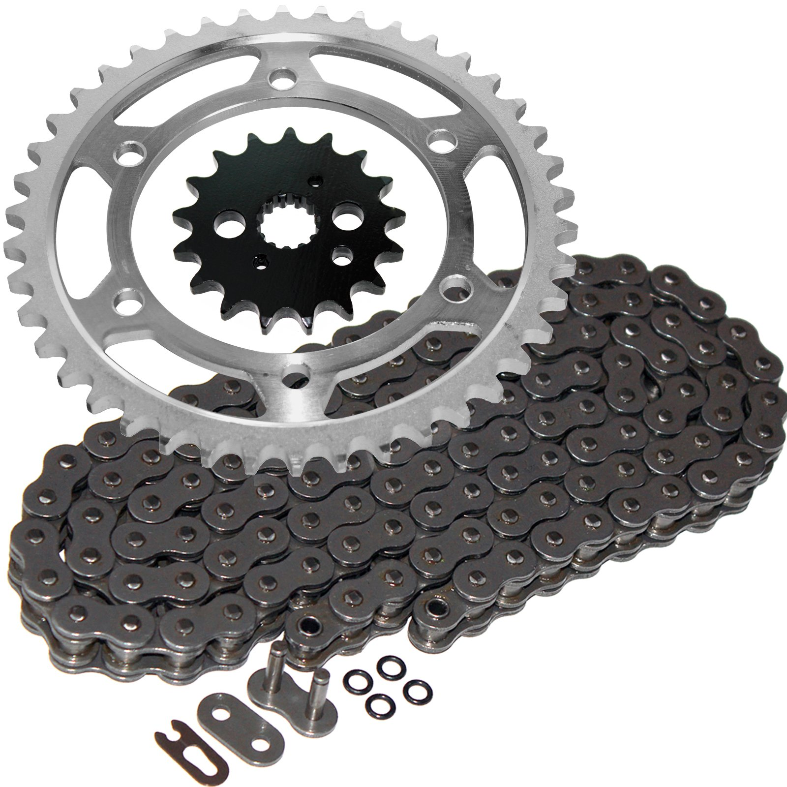 Caltric Steel O-Ring Drive Chain & Sprockets Kit Fits KAWASAKI VN800A VN-800A Vulcan 800 1997-2005 by Caltric (Image #1)
