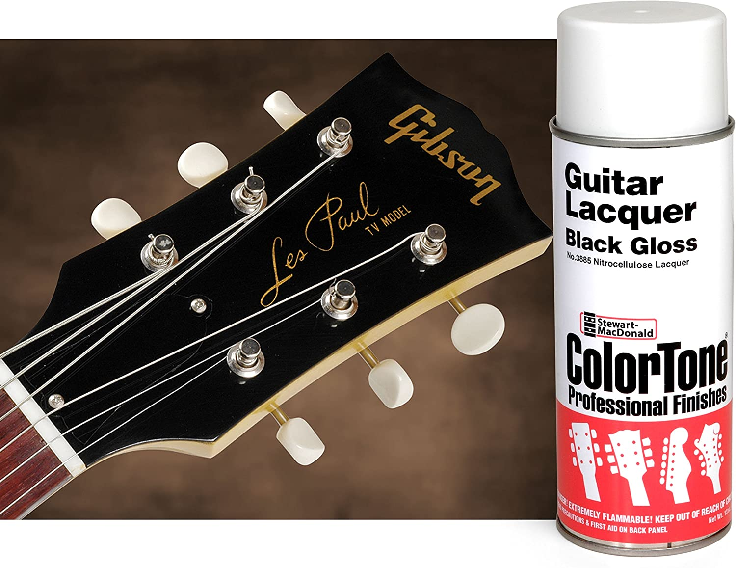 Colortone negro aerosol para guitarra: Amazon.es: Bricolaje y ...