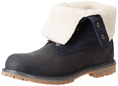 Timberland Auth Teddy Fleece Wp, Boots femme, Bleu (Navy), 4.5 UK