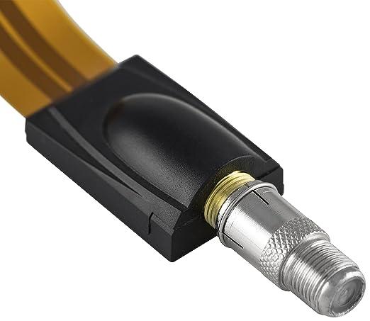 Poppstar - 8X Conector Sat F-Quick (Conector rápido coaxial: F-Hembra a F-Macho) Acoplamiento para Cable coaxial: Amazon.es: Electrónica