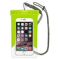 """MOSSLIAN 6"""" Custodia Impermeabile Universale per Telefono Cellulare Piscina Nuoto Drift Surf Sci Pesca Immersioni ECC Sport Acquatici per iPhone 6s Plus, iPhone 6, ASUS ZenFone 2, Samsung S7, Note 5"""