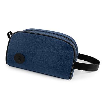 bf891e8d0 Neceser/Bolsa de Aseo de Viaje para Maquillaje y Productos Cosméticos para  Hombre y Mujer (Azul): Amazon.es: Equipaje