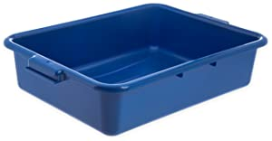 "Carlisle N4401014 Comfort Curve Ergonomic Wash Basin Tote Box, 5"" Deep, Blue"