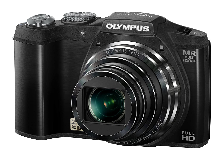 OLYMPUS デジタルカメラ SZ-31マルチレコーディング ブラック 1600万画素 裏面照射型CMOS 光学24倍ズーム DUAL IS ハイビジョンムービー 3.0型タッチパネルLCD 広角25mm 3Dフォト機能 SZ-31MR BLK  ブラック B00763EUWI