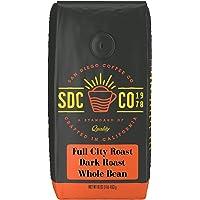 San Diego Coffee Full City Roast, Dark Roast, Whole Bean, 16-Ounce Bag