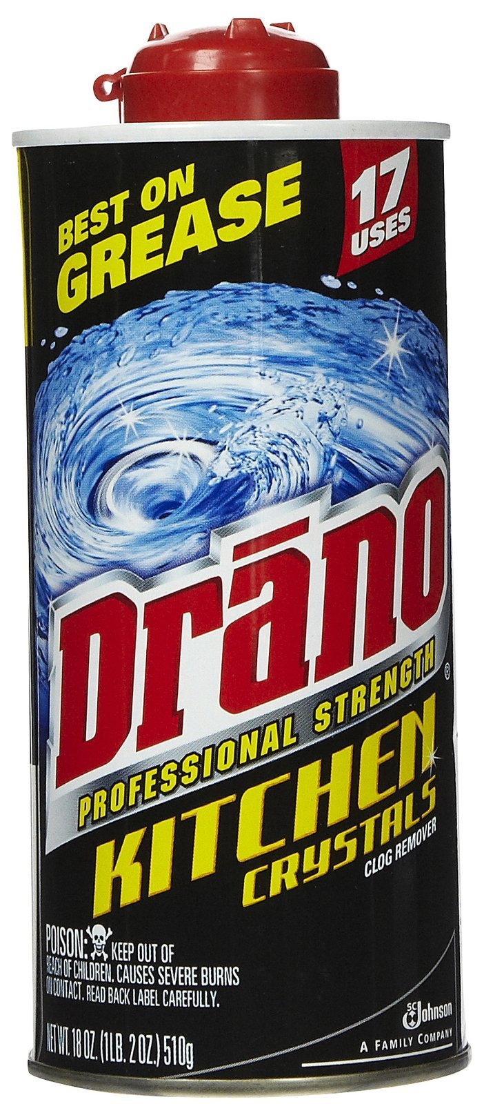 Drano Professional Strength Kitchen Crystals Clog Remover, 18 Oz by Drano