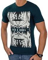 JACK & JONES Herren T-Shirt jcoFRANK Tee Shirt 3D-Print Rundhals Slim Fit