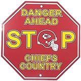 "NFL Kansas City Chiefs Stop Sign, 12"" x 12"