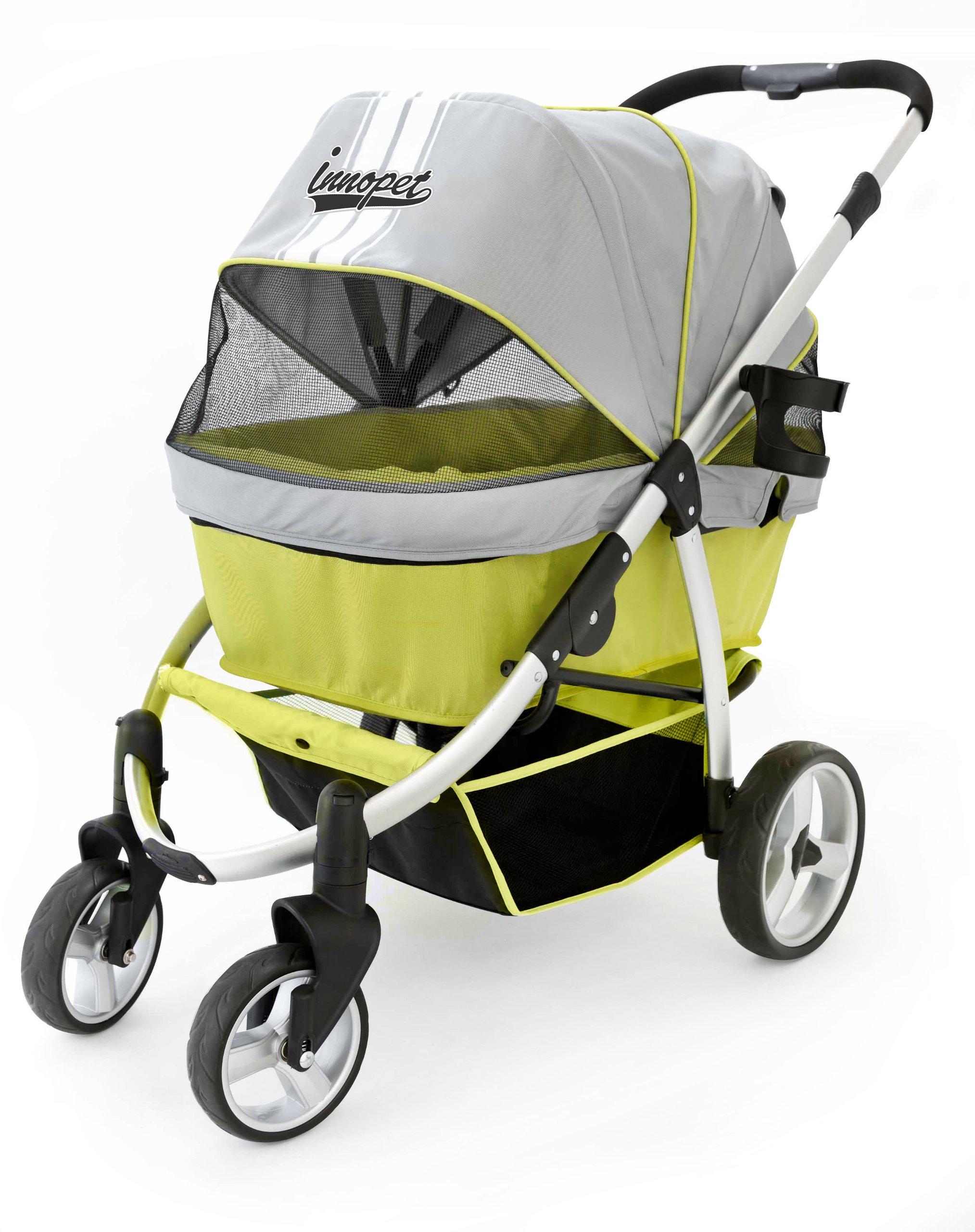 Innopet Pet Stroller, IPS-06/Green, Dog Carrier, Trolley, Trailer, Buggy Retro. Foldable pet Buggy, Pushchair, pram for Dogs and Cats by Innopet