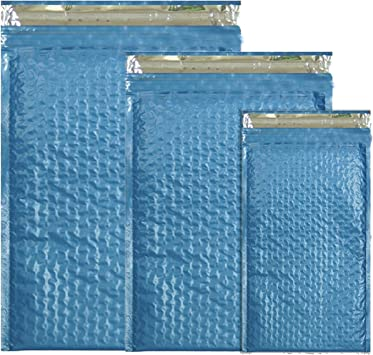 Assorted 8.5x12 4x8 Teal Poly Bubble Padded Mailers New 3 Pack 6x9 All 3 Sizes