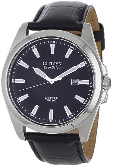 Citizen BM7100-16E - Reloj , correa de cuero color negro