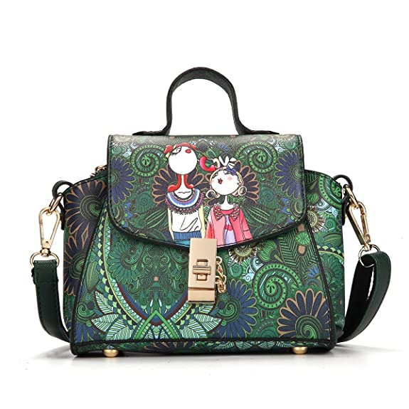 Women Purses Handbag Tote Shoulder Bag PU Leather Crossbody Green ...