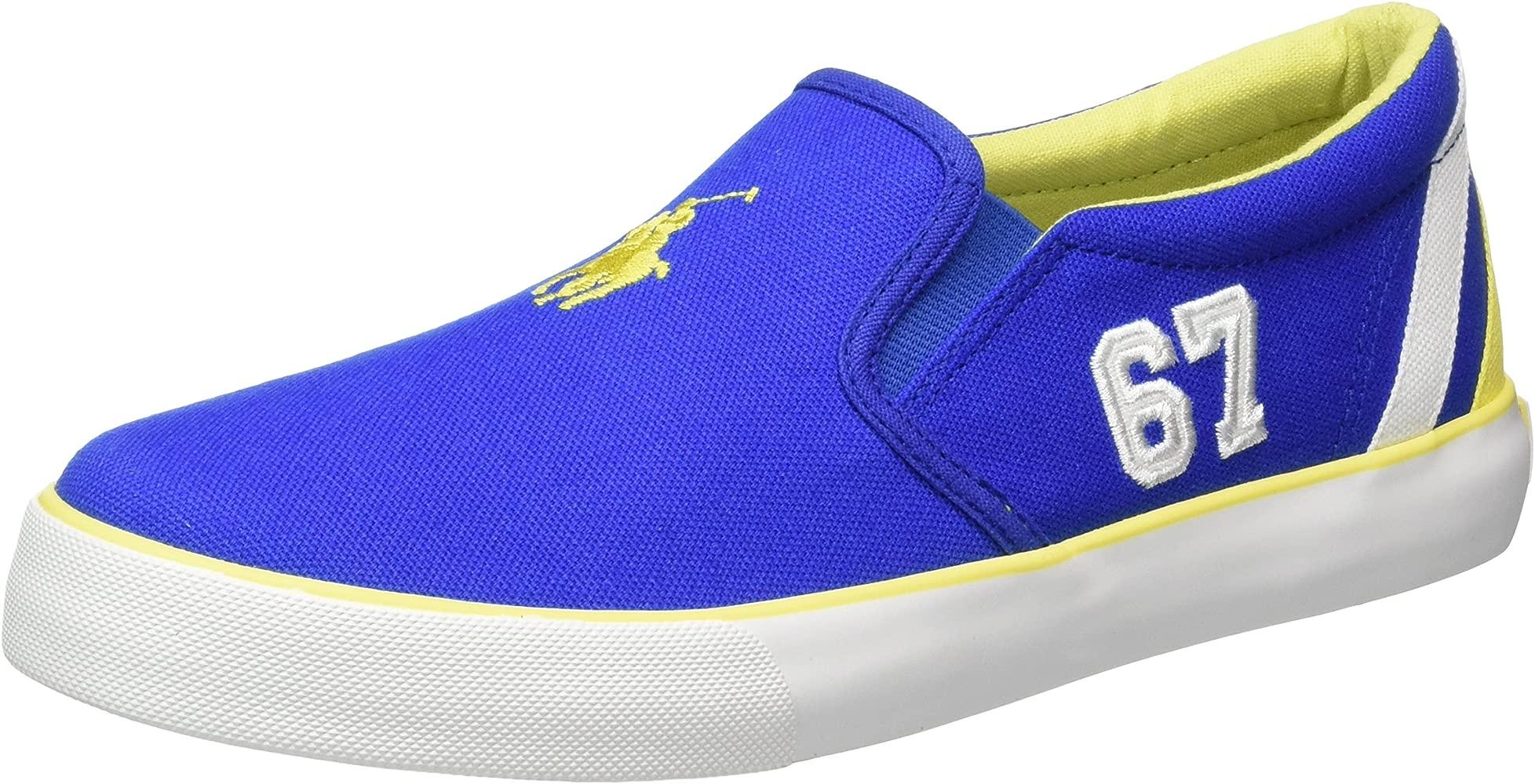 Polo Ralph LaurenVincent - Zapatillas Niños-Niñas, Color Azul ...