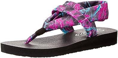 96fbf5ee0 Skechers Women s Meditation - Time Warp Flip Flops  Amazon.co.uk ...