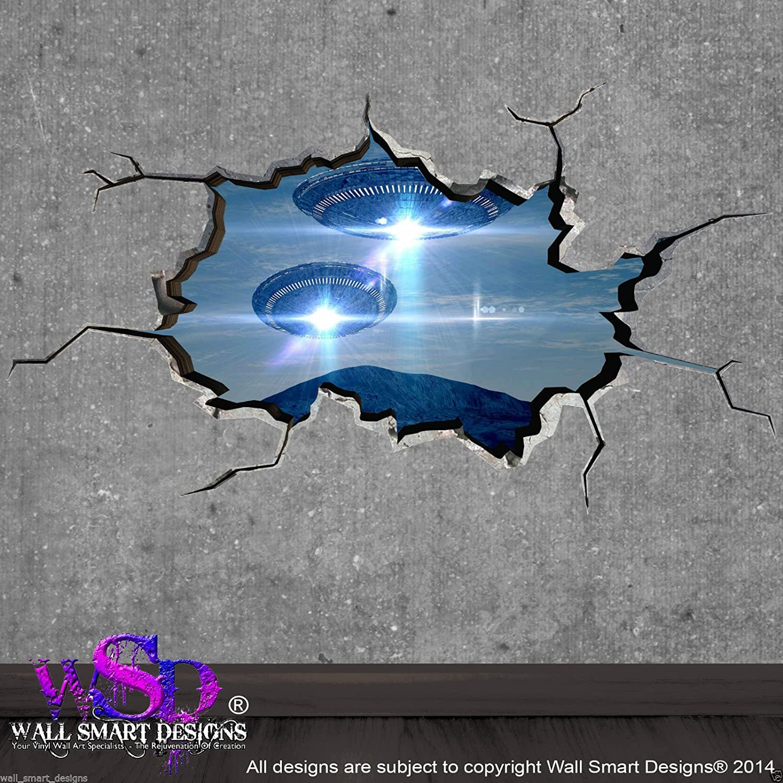 Wand Smart Designs wsd16 m Full Farbe Platz Planeten Ufo gebrochenen ...