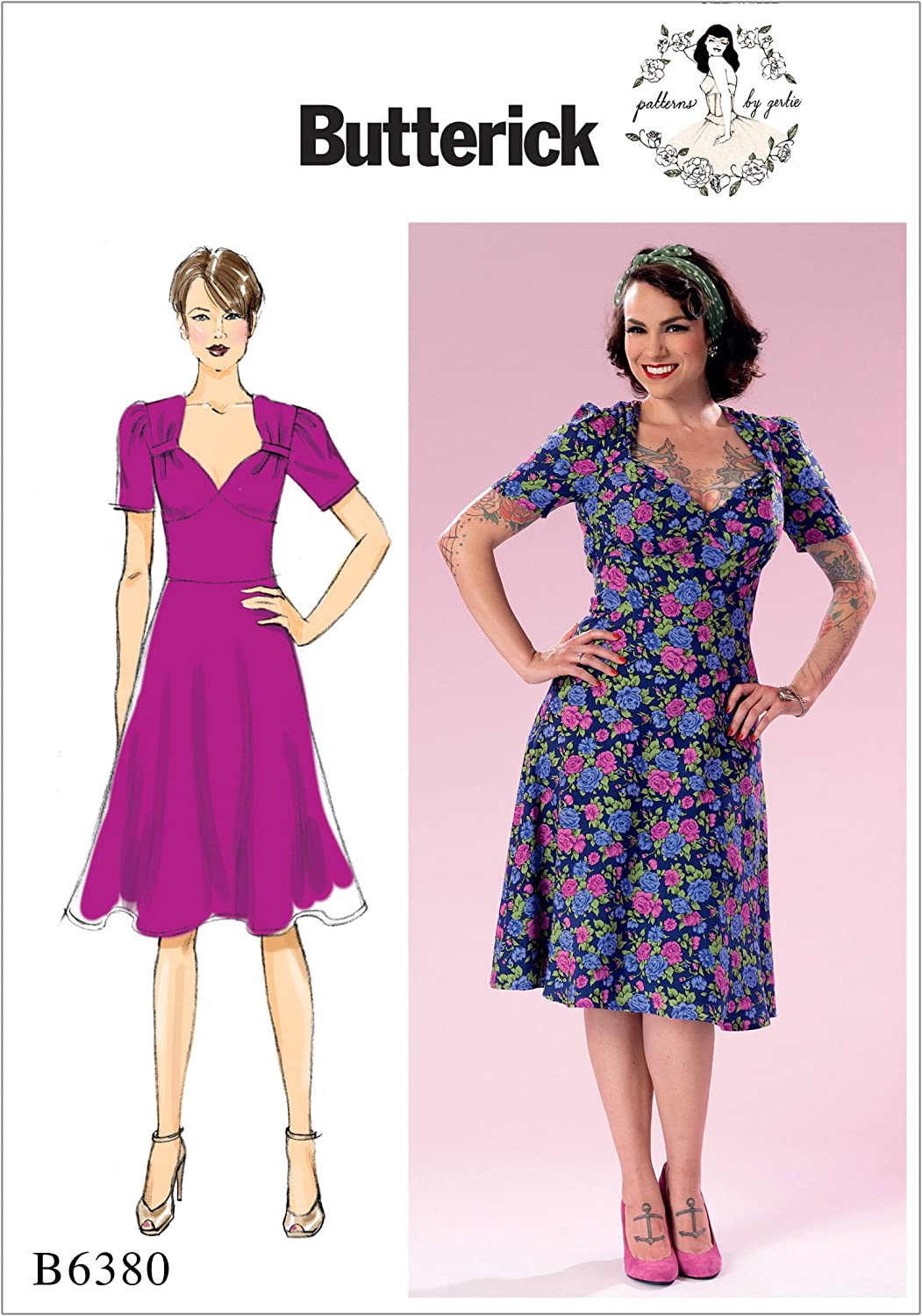 Misses Blouse Butterick B6217 PATTERNs by Gertie Size 4-20